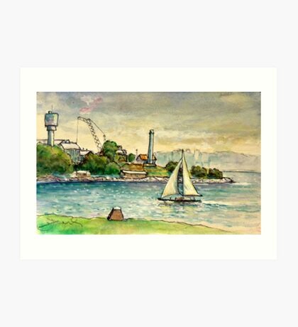 Cockatoo Island, Sydney Harbour Art Print