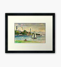 Cockatoo Island, Sydney Harbour Framed Print