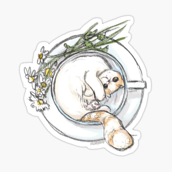 Chamomile Cat Sticker