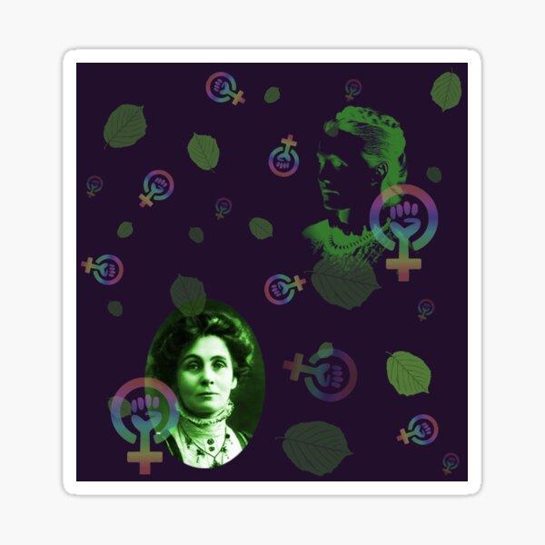 Suffragettes in purple Sticker