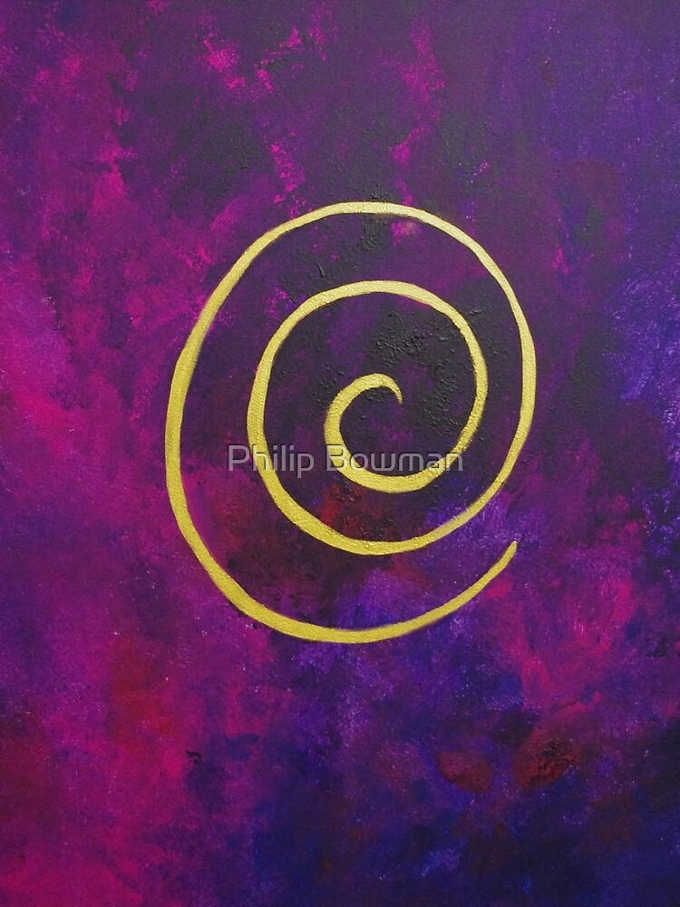 Philip Bowman Deep Purple And Gold Modern Abstract Art by philipbowman