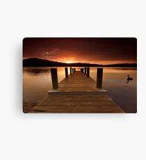 Jetty, Franklin, Tasmania Canvas Print