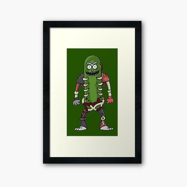 Pickle Rick Framed Art Print