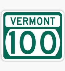 Route 100 Sign, Vermont, USA Sticker