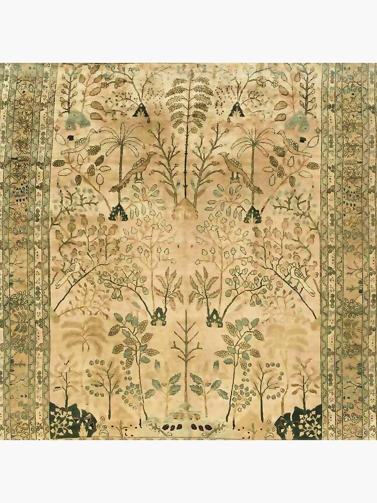 Antique Persian Meshad Rug Print by bragova