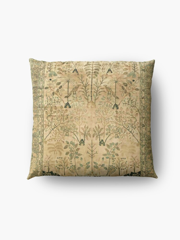 Alternate view of Antique Persian Meshad Rug Print Floor Pillow