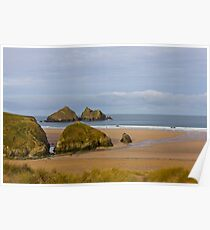 Cornish Seascape Holywell Bay Poster