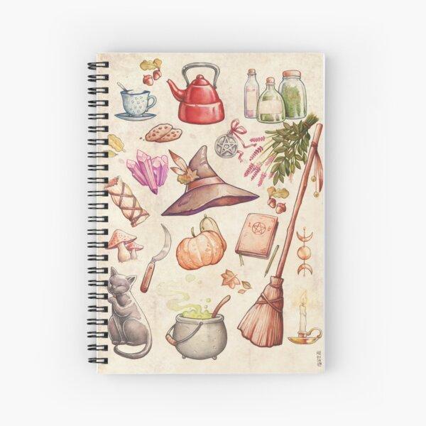 FOLK WITCH ELEMENTS Spiral Notebook