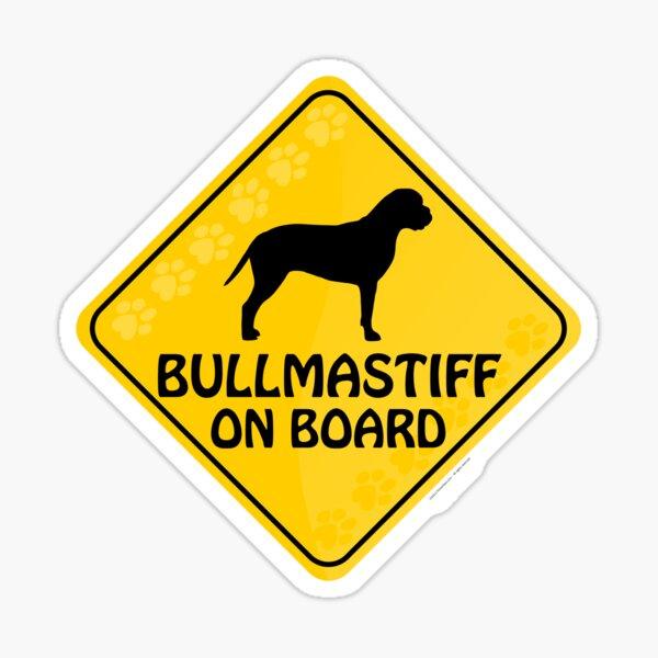 Bullmastiff On Board Sticker