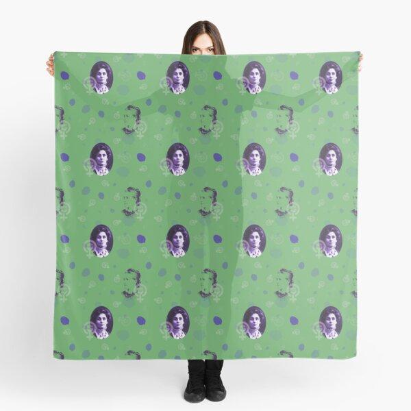Suffragette in green Scarf