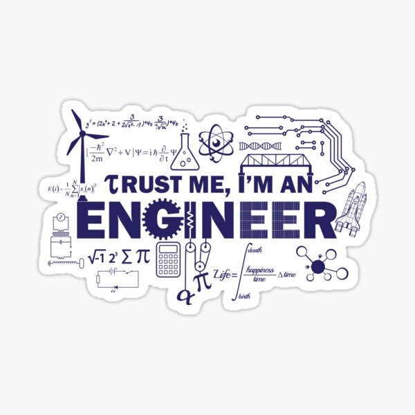 Yeah, I'm An Engineer Sticker
