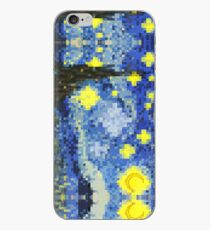 8-bit Starry Night iPhone Case