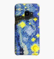 8-bit Starry Night Case/Skin for Samsung Galaxy