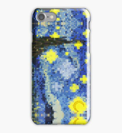 8-bit Starry Night iPhone Case/Skin