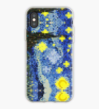 8-bit Starry Night iPhone Case