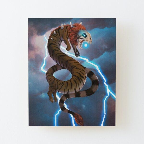 Léi Hǔ Lóng, The Thunder Lord Wood Mounted Print