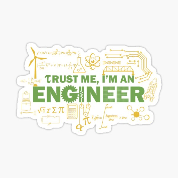 Science Engineer Humor Sticker