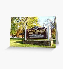 Location of Fort Blair, Baxter Spgs., KS Greeting Card
