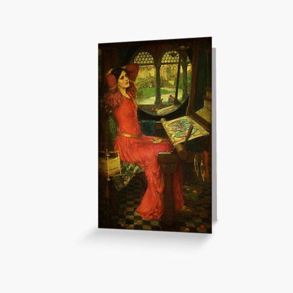 Pre Raphaelite Greeting Card