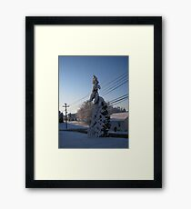 Feb. 19 2012 Snowstorm 112 Framed Print