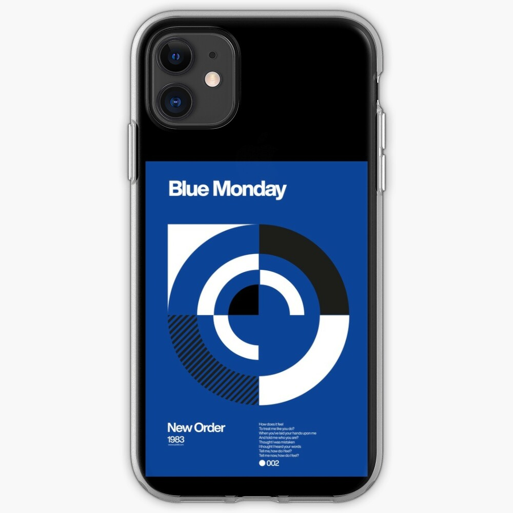 Blue Monday - New Order Typographic Poster iPhone Case & Cover