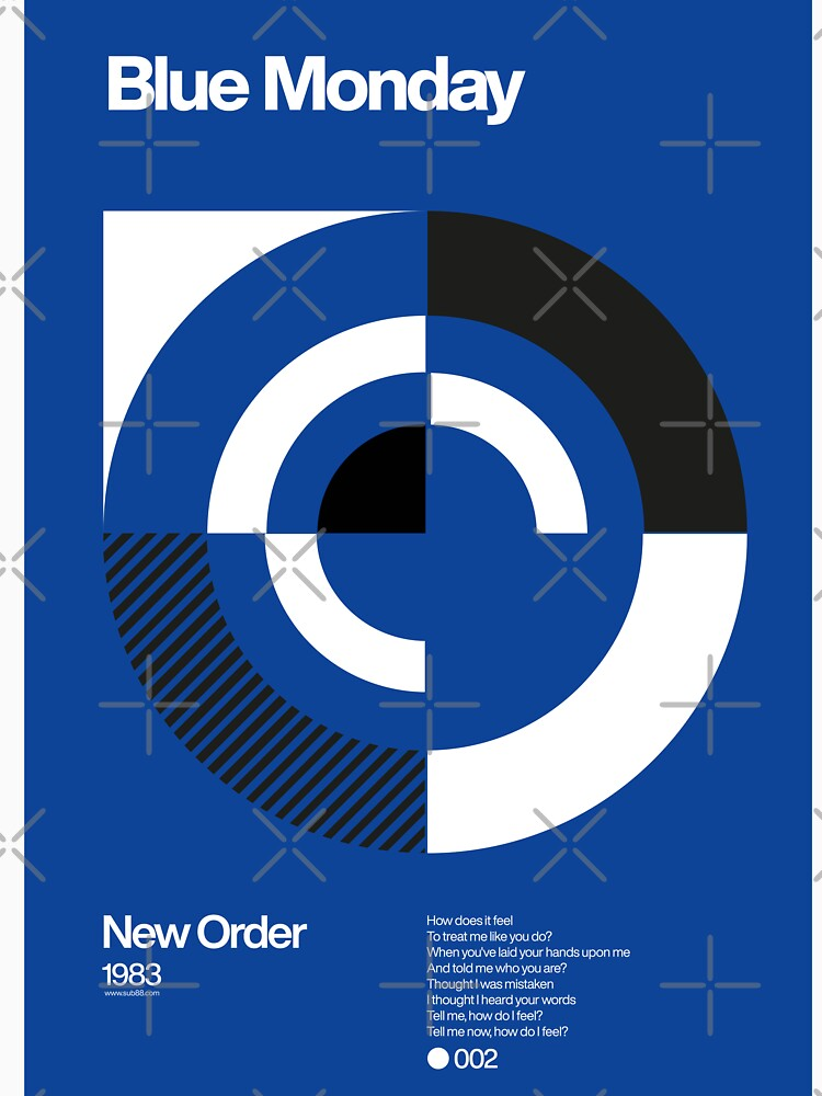 Blue Monday - New Order Typographic Poster by sub88