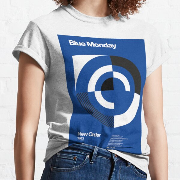 Blue Monday - New Order Typographic Poster Classic T-Shirt
