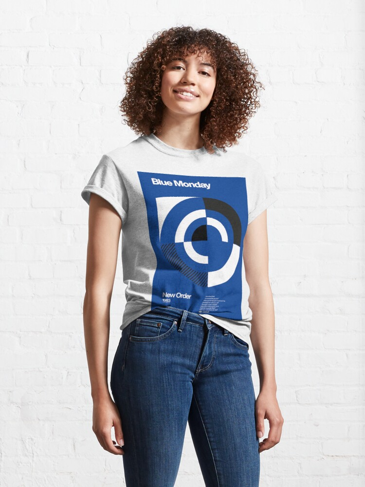 Alternate view of Blue Monday - New Order Typographic Poster Classic T-Shirt