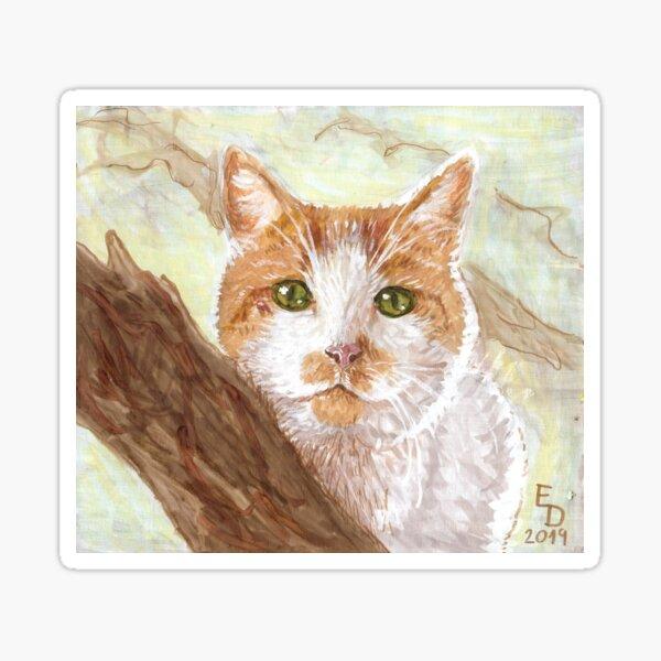 Cat In A Tree Sticker