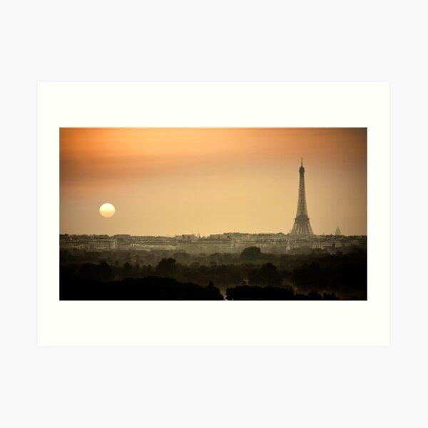 Lever de soleil sur Paris et la tour Eiffel Impression artistique
