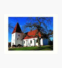 Aunede Kirke Art Print