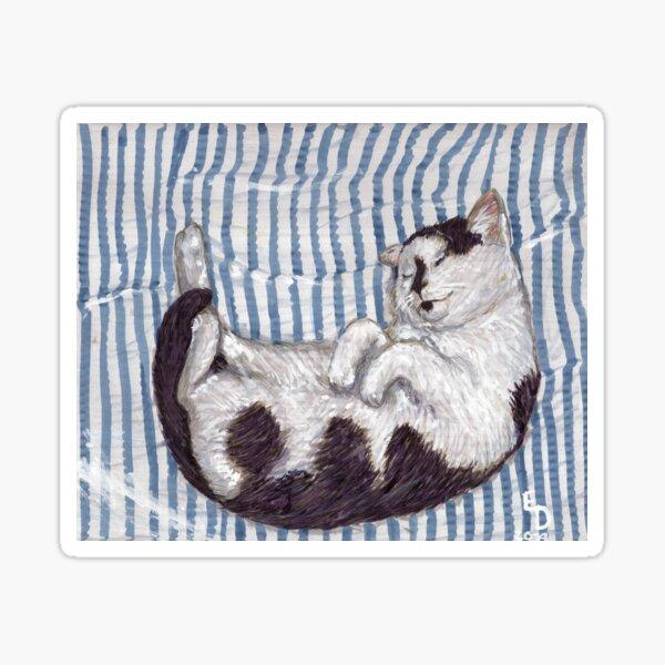 A Sleeping Cat Sticker