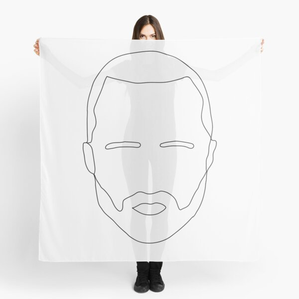 jesse pinkman minimal line portrait Scarf