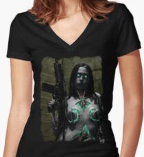 Cyberpunk 003 Women's Fitted V-Neck T-Shirt