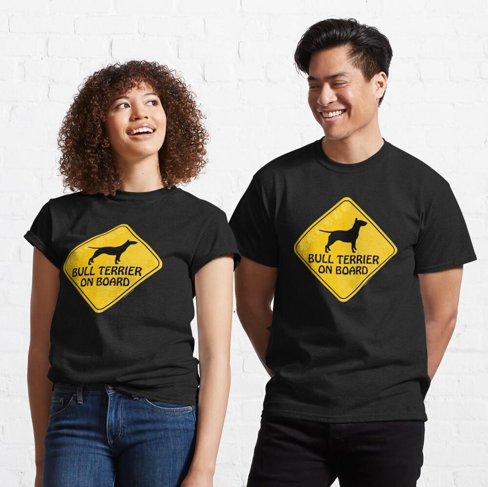 Bull Terrier On Board Classic T-Shirt