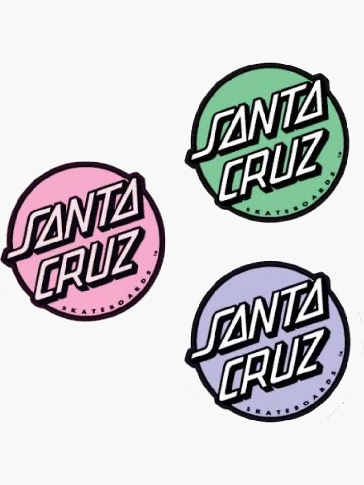 Mini Santa Cruz stickers three pack pastel  by maddiesartworks
