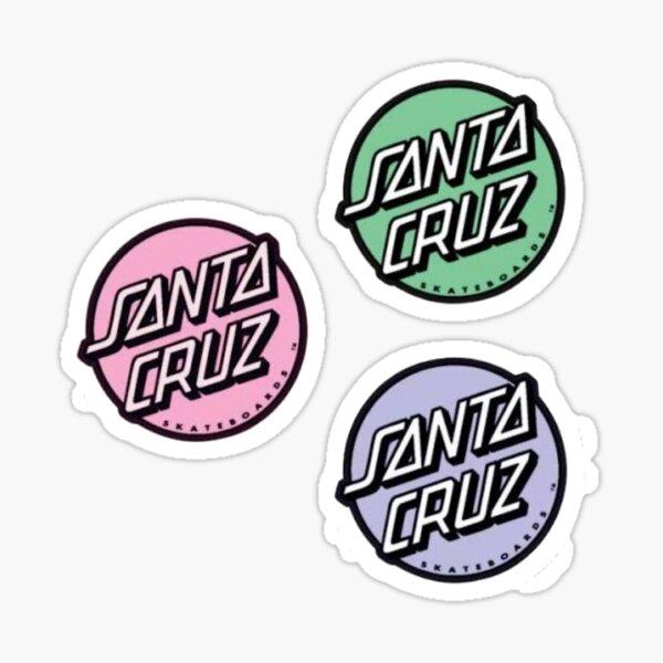 Mini Santa Cruz stickers three pack pastel  Sticker