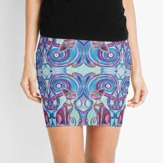Fractaline Feline Mini Skirt