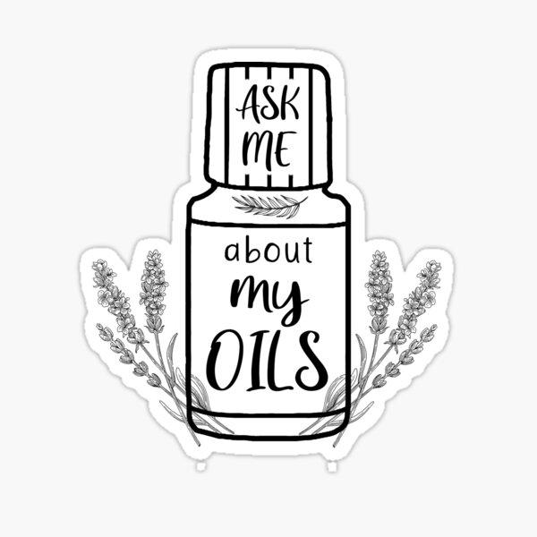 Pregúntame acerca de mis aceites Pegatina