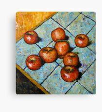 apples on tile Canvas Print