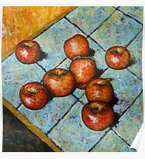 apples on tile Poster