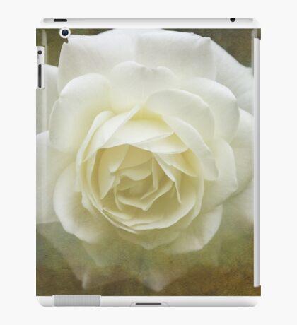 Vintage White Rose iPad Case/Skin