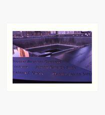 9/11 Memorial - New York City Art Print