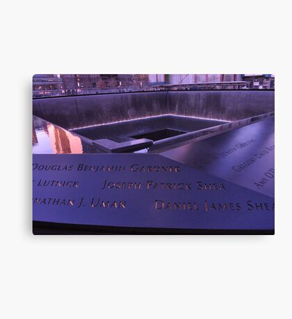 9/11 Memorial - New York City Canvas Print