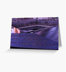 9/11 Memorial - New York City Greeting Card