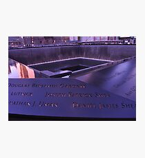 9/11 Memorial - New York City Photographic Print