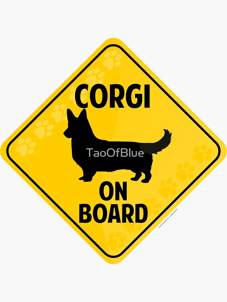 Corgi (Cardigan Welsh) On Board by TaoOfBlue
