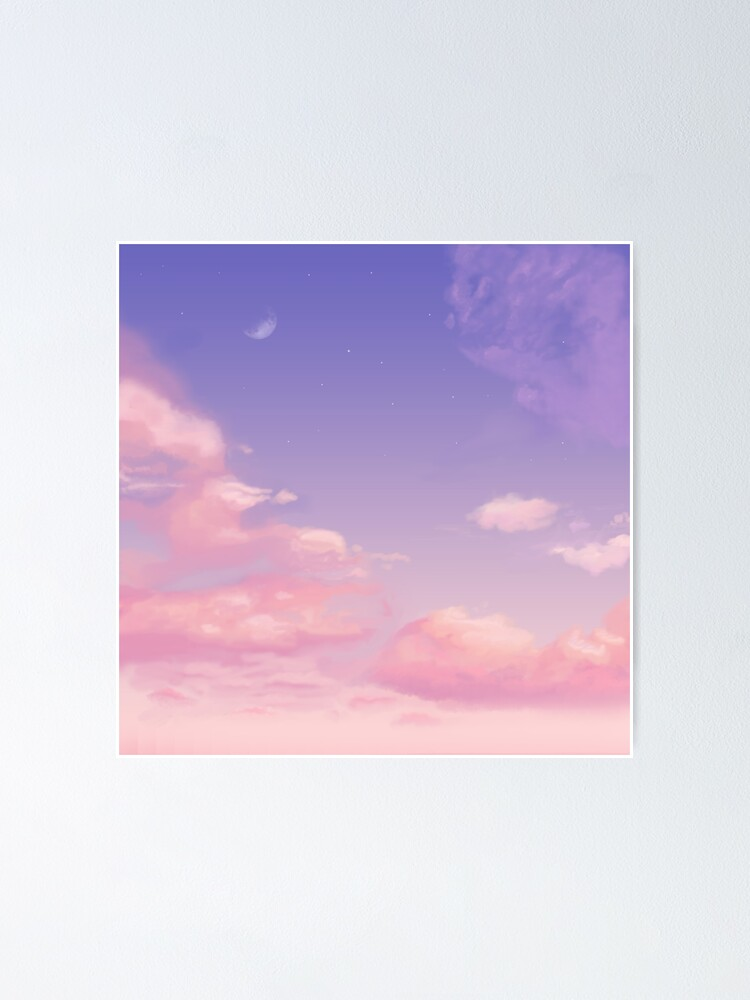 Sky Purple Aesthetic Lofi Poster By Trajeado14 Redbubble