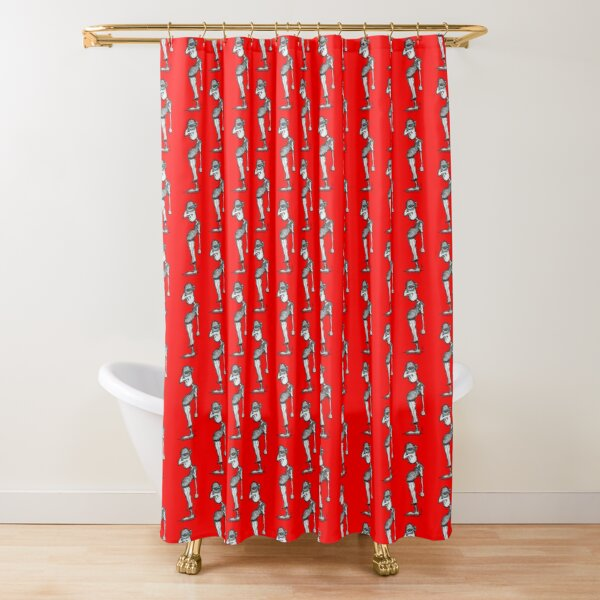 """What?"" Shower Curtain"