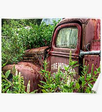 THE OLD ABANDONED FIRE ENGINE.........! Poster